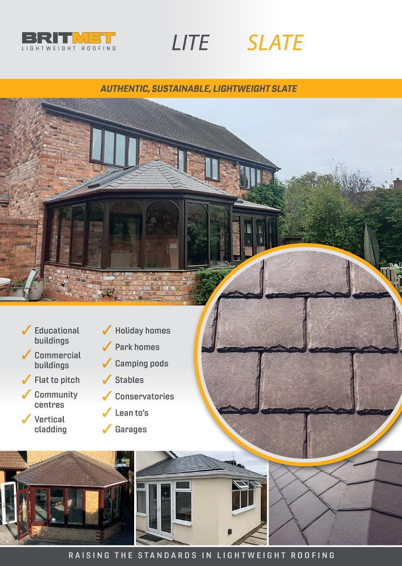 Britmet slates now available at all The Fascia Place trade counters.